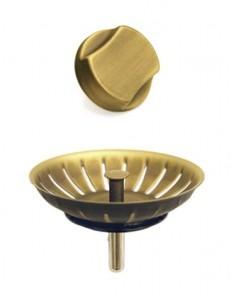 Клапан-автомат OMOIKIRI A-02-AB-2 античная латунь