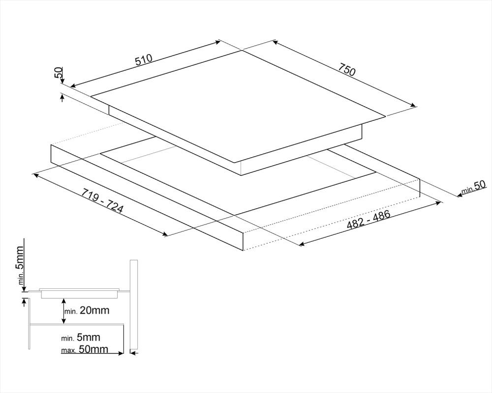 Комбинированная варочная панель Smeg PM6721WLDR