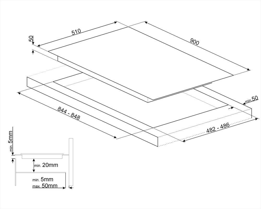 Комбинированная варочная панель Smeg PM6912WLDR
