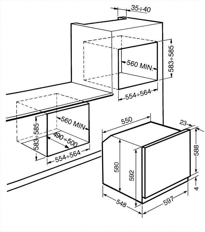 Многофункциональный духовой шкаф Smeg SFP6925BPZE1