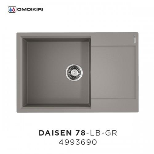 Мойка OMOIKIRI Daisen 78-LB-GR Artgranit/Leningrad Grey