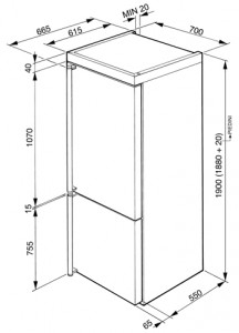 Холодильник SMEG FA8003AOS