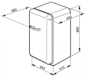 Холодильник SMEG FAB10RUJ