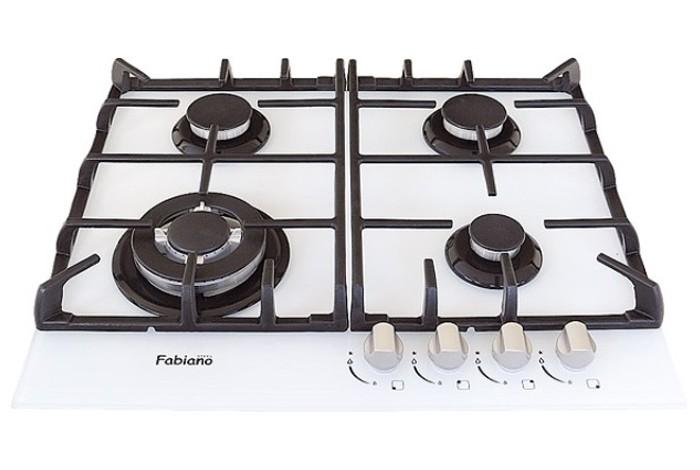 Газовая варочная поверхность Fabiano FHG 10-44 VGH-T White Glass