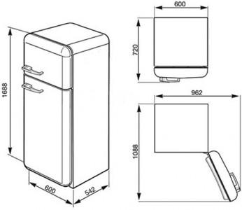 Холодильник SMEG FAB30LB1
