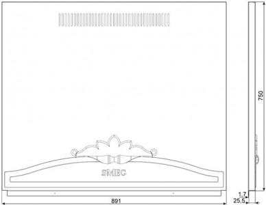 Стеновая панель SMEG KIT1CC9PX