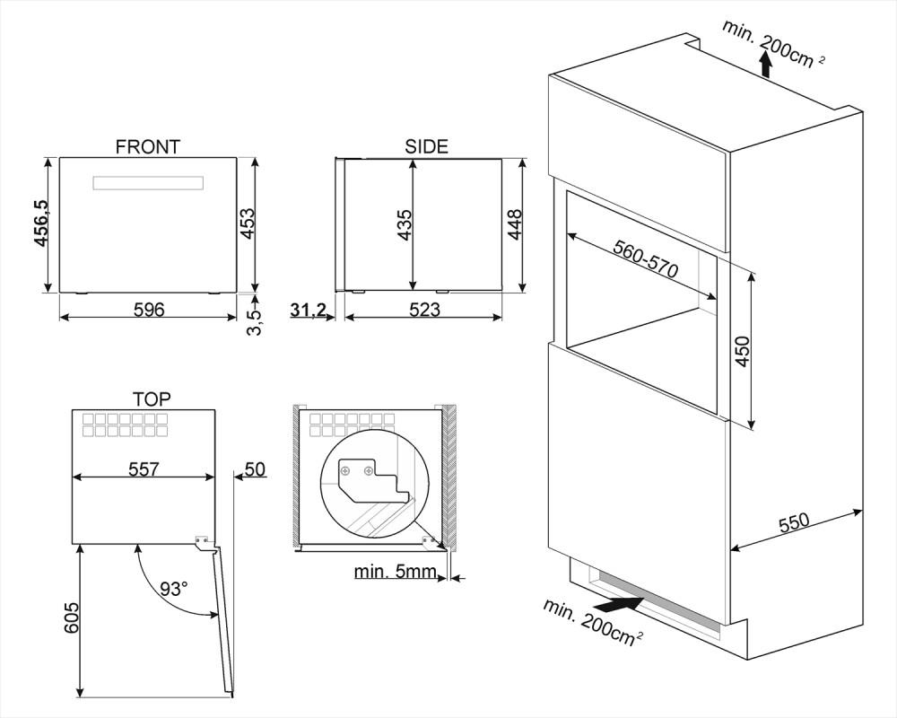 Холодильный шкаф для вина встраиваемый Smeg CVI618LWNX2