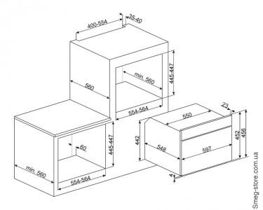 Микроволновая печь SMEG SF4750MAO
