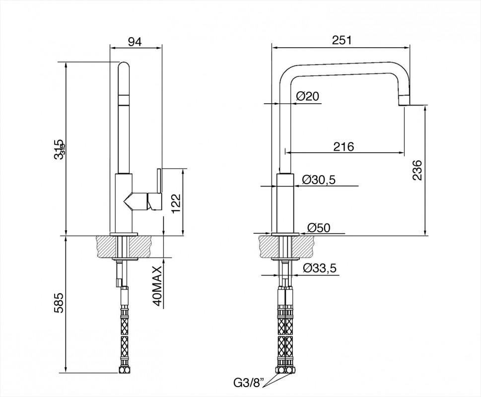 Смеситель Smeg MC18T-2