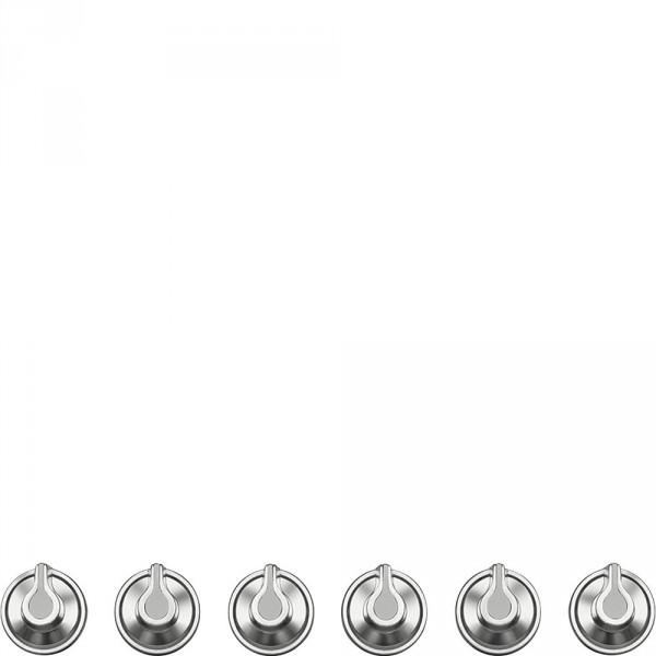 Набор ручек для варочных поверхностей Smeg 6MP1BF