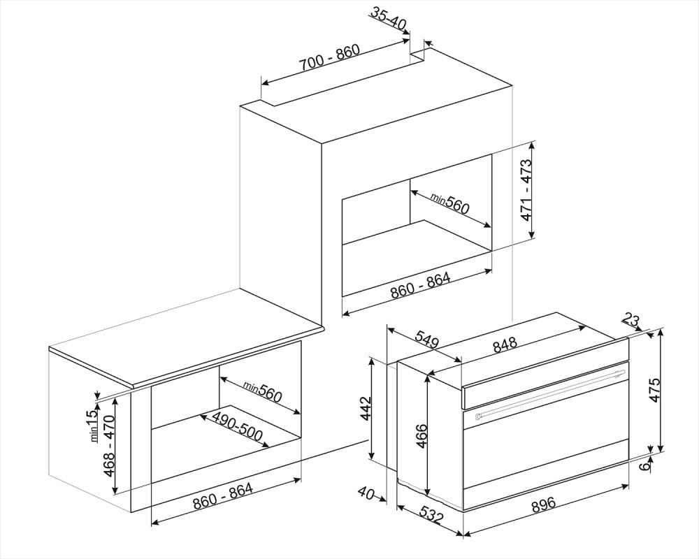 Многофункциональный духовой шкаф Smeg SFPR9604NX