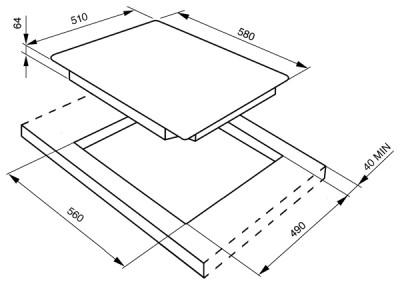 Индукционная варочная поверхность SMEG SI5633B