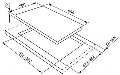Газовая варочная панель SMEG SPR876RAGH
