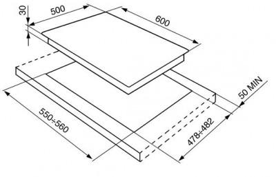 Газовая варочная панель SMEG SR764OT