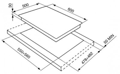 Газовая варочная панель SMEG SR764PO