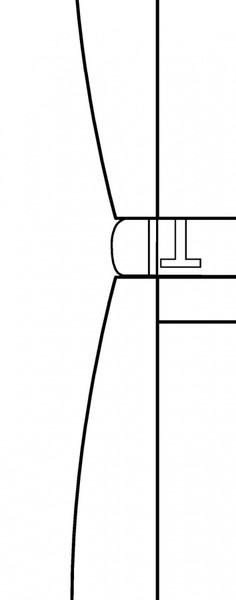 Монтажный комплект для установки в колонну WTV414 белый лотос