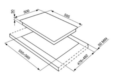 Газовая варочная панель SMEG SR964NGH