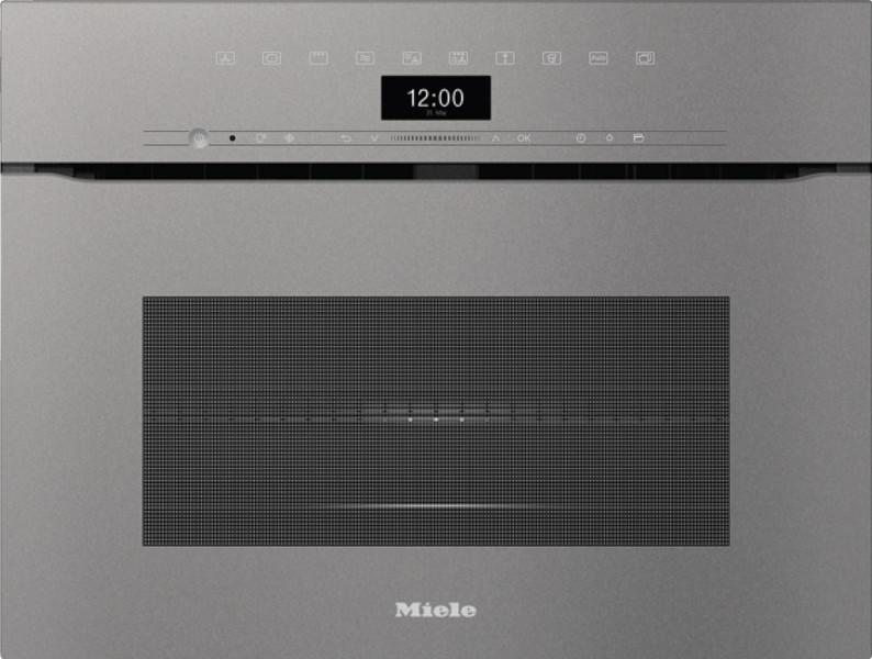 Духовой шкаф с СВЧ Miele H7440BMX GRGR графитовый серый