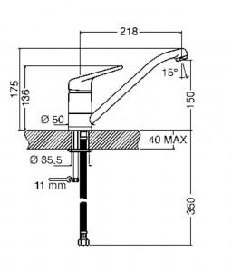 Смеситель SMEG MF11CR2
