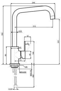 Смеситель SMEG MI3CR