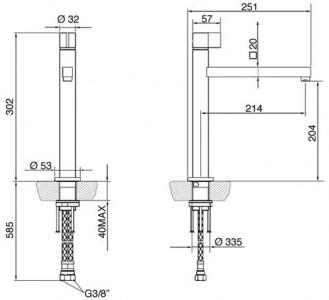 Смеситель SMEG ML19-CR