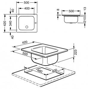 Мойка SMEG VS34/P3