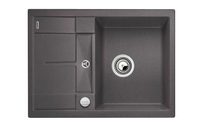 Мойка BLANCO METRA 45 S SILGRANIT темная скала с клапаном-автоматом