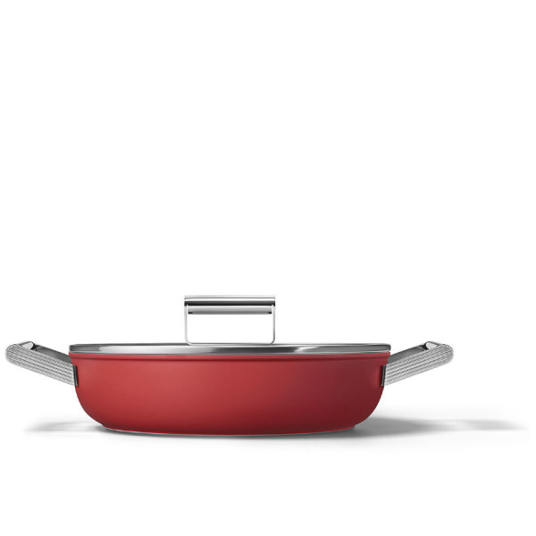 Сковорода глубокая Smeg CKFD2811RDM 28см