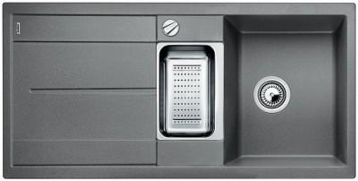 Мойка BLANCO METRA 6S SILGRANIT алюметаллик с клапаном-автоматом
