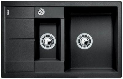 Мойка BLANCO METRA 6S COMPACT SILGRANIT антрацит с клапаном-автоматом