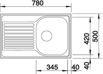 """Мойка BLANCO TIPO 45 S Compact нерж. сталь """"декор"""""""
