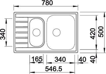Мойка BLANCO LIVIT 6 S Compact нерж. сталь полированная