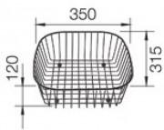 Корзина для посуды BLANCO нерж. сталь 350x315x120 мм