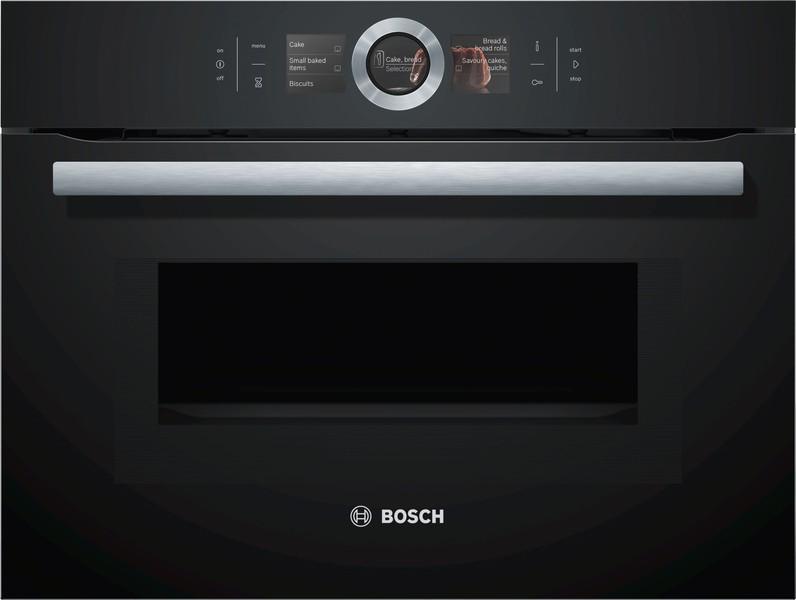 Встраиваемый компактный духовой шкаф с микроволнами Bosch CMG636BB1