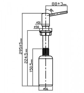 Дозатор OMOIKIRI OM-02-CH шампань