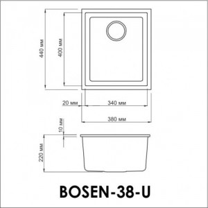 Мойка OMOIKIRI Bosen 38-U-WH Tetogranit/белый