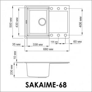 Кухонная мойка Omoikiri Sakaime 68-SA