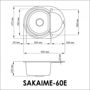 Мойка OMOIKIRI Sakaime 60E-BL Tetogranit/черный