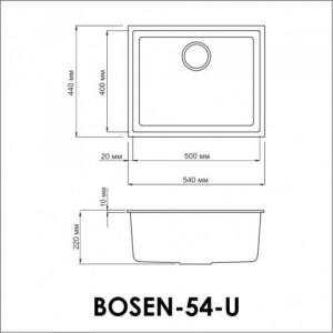 Мойка OMOIKIRI Bosen 54-U-WH Tetogranit/белый
