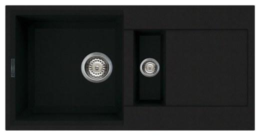 Мойка OMOIKIRI Sakaime 86-2-BL Tetogranit/черный