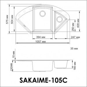 Мойка OMOIKIRI Sakaime 105C-PL Tetogranit/платина
