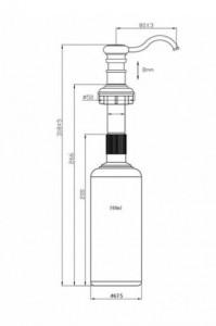 Дозатор OMOIKIRI OM-01-SI серебро