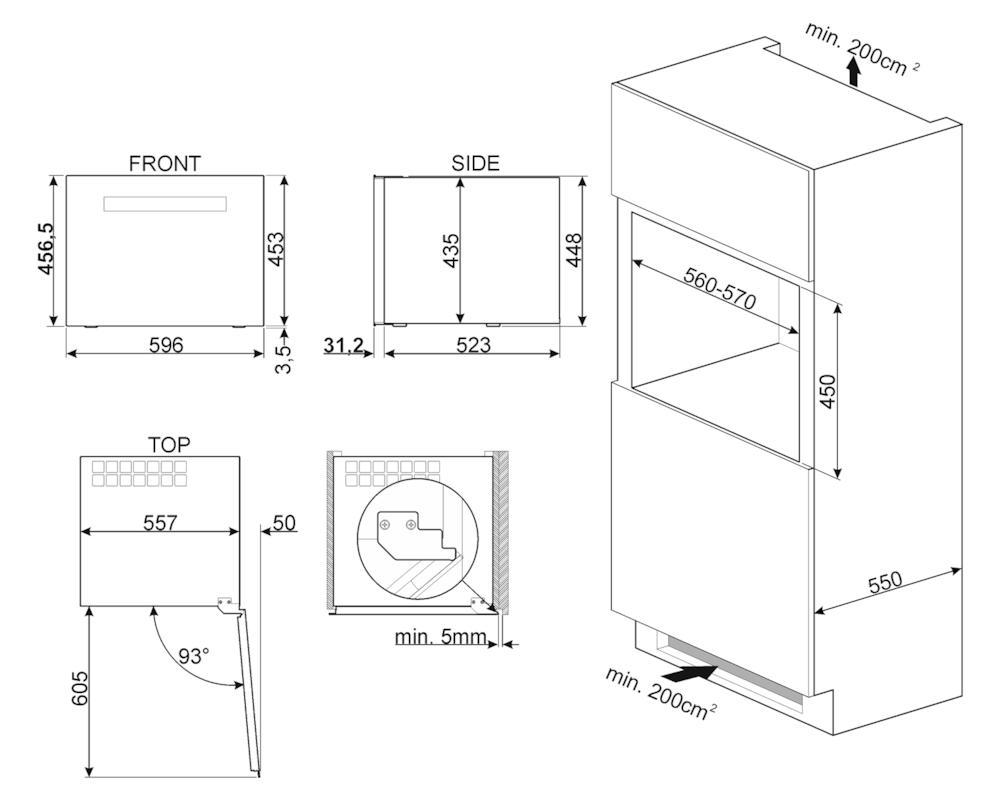 Холодильный шкаф для вина встраиваемый Smeg CVI318XS