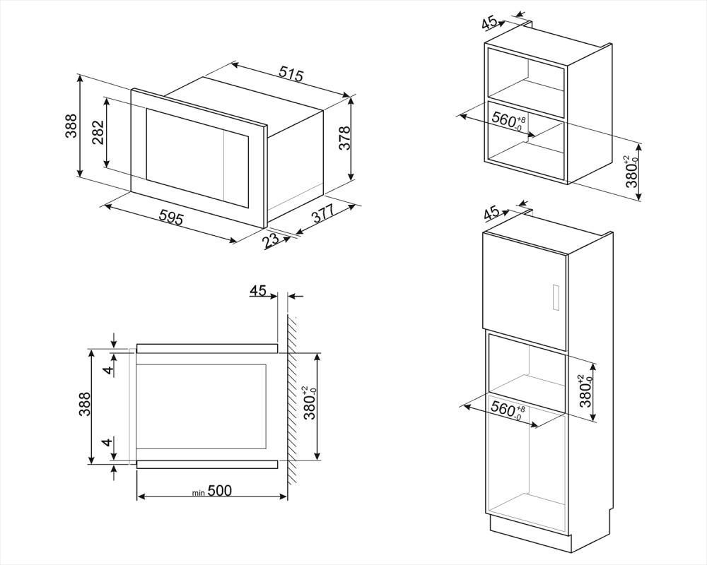 Встраиваемая микроволновая печь Smeg FMI325X