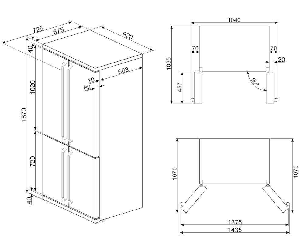 Холодильник Side-by-Side Smeg FQ960N