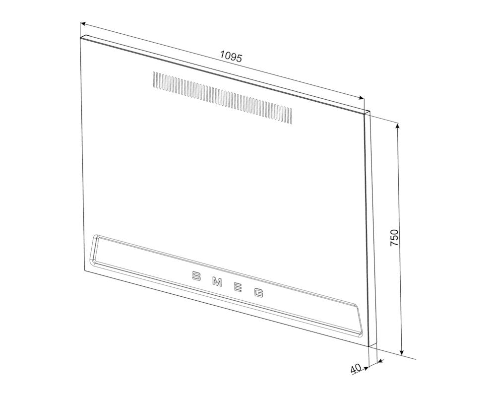 Стеновая панель Smeg KIT1TR41N
