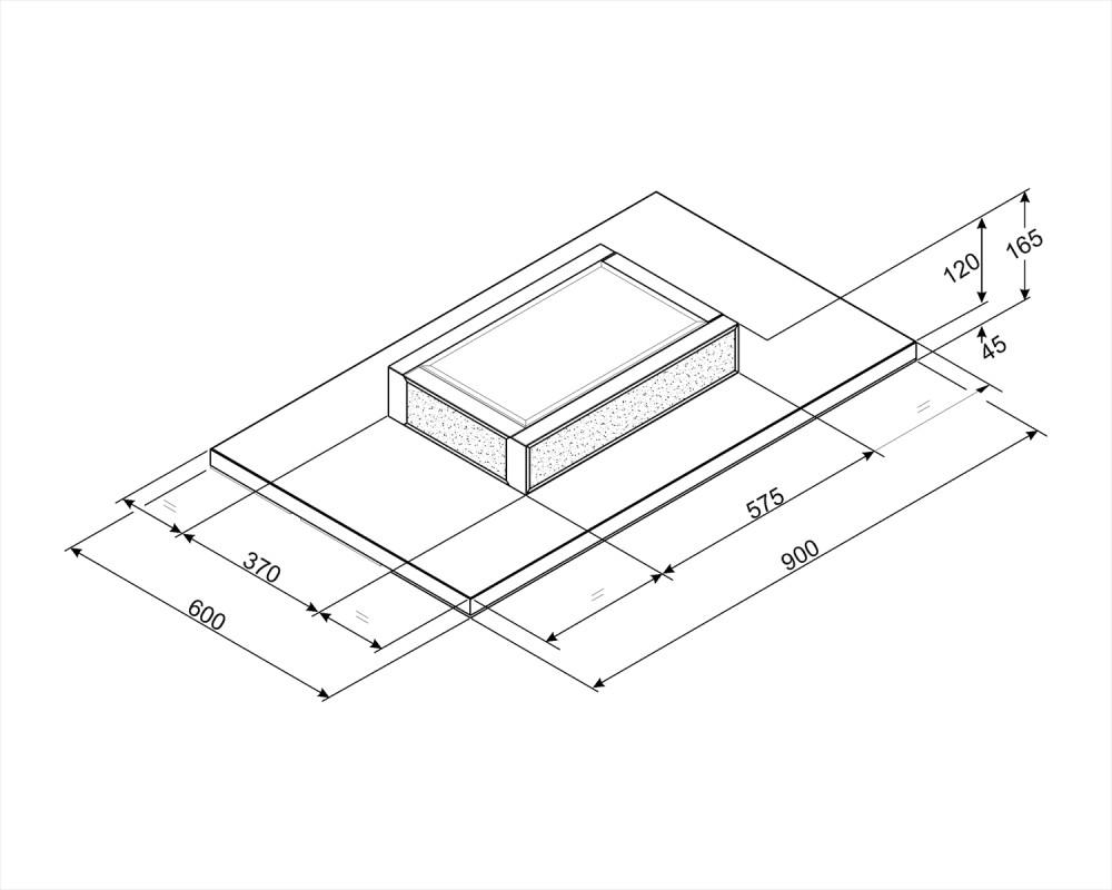 Вытяжка потолочного монтажа Smeg KSCF90B