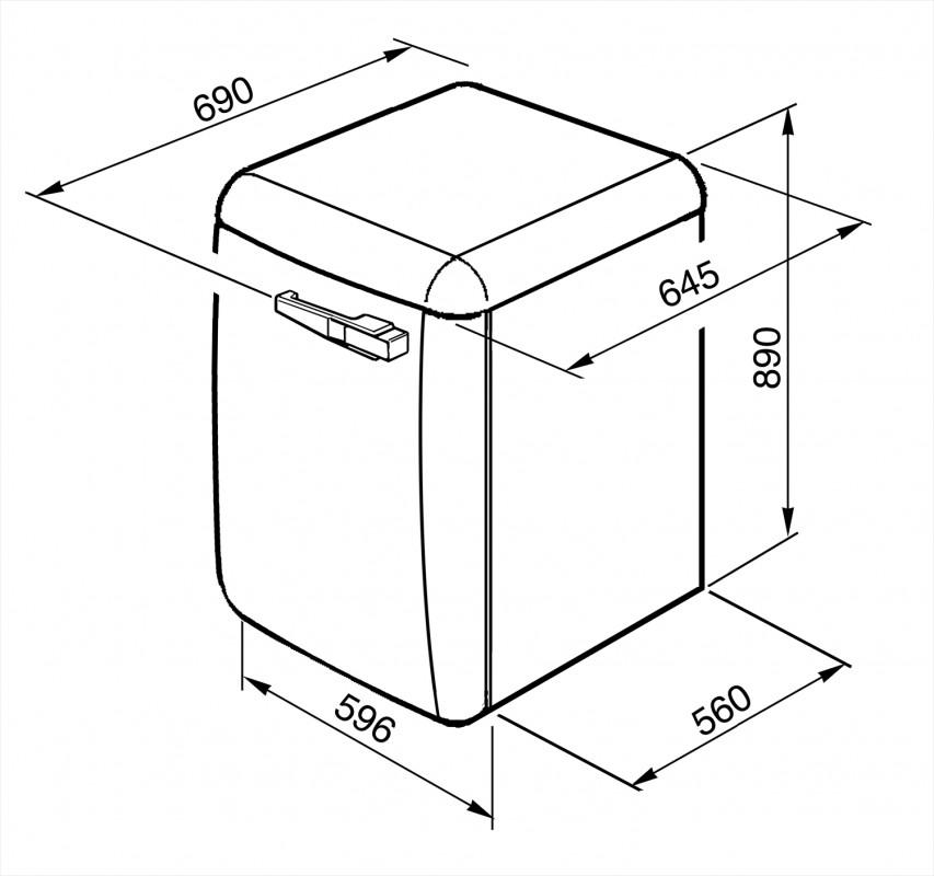Отдельностоящая стиральная машина Smeg LBB14WH-2