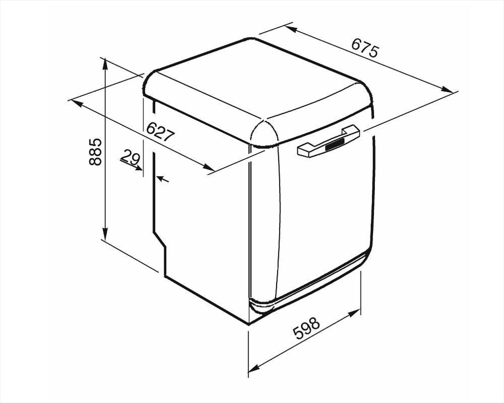 Отдельностоящая посудомоечная машина Smeg LVFABPK
