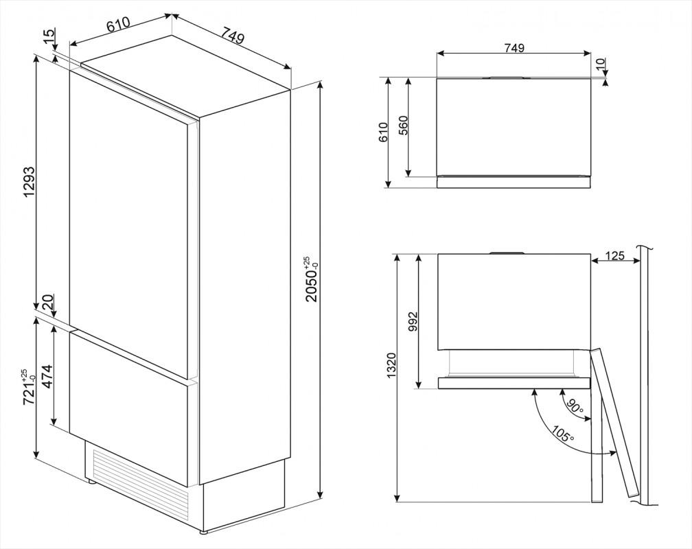 Встраиваемый холодильник Smeg RI76RSI